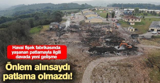 Havai fişek fabrikasında yaşanan patlamayla ilgili davada yeni gelişme