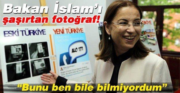 Bakan İslam'ı şaşırtan fotoğraf!
