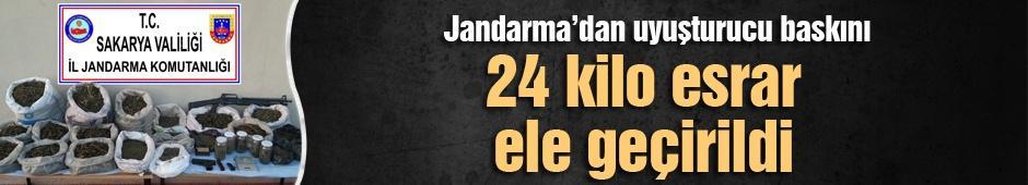 Jandarma'dan uyuşturucu baskını