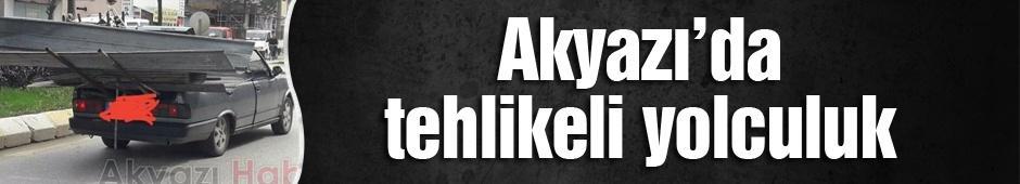 Akyazı'da tehlikeli yolculuk