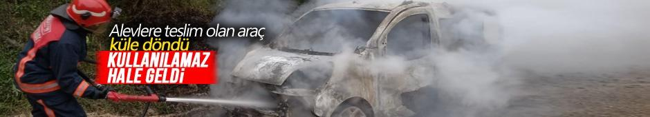 Alevlere teslim olan araç küle döndü