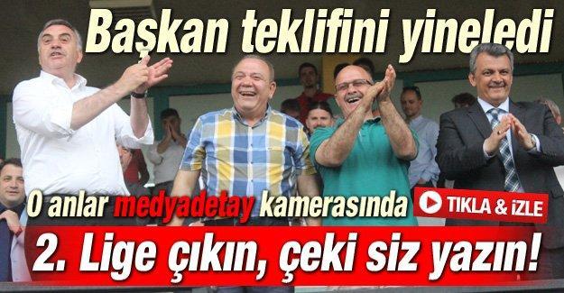 Futbolcularla Toçoğlu'nun prim pazarlığı