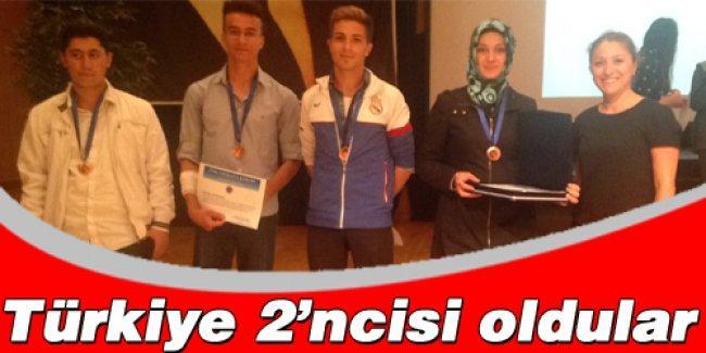 Güneşler Anadolu Lisesi Türkiye 2'ncisi oldu