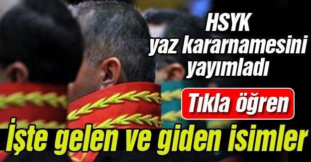 HSYK yaz kararnamesini yayımladı