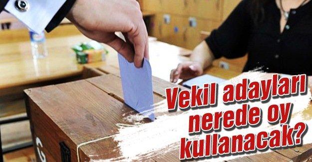 İşte oy kullanacakları okullar ve sandıklar