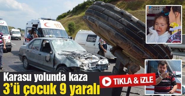 Karasu yolunda kaza