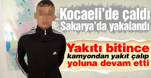 Kocaeli'nde çaldı Sakarya'da yakalandı
