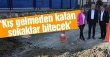 Başkan Dişli, altyapı çalışmalarını yerinde inceledi