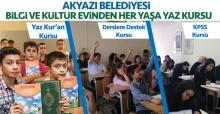 Akyazı'da yaz kursları kayıtları başladı