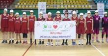 Basketbol takımları sağlık yaşam için sahaya çıktı