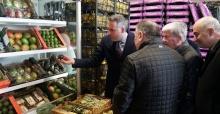 Başkan Tever'den yeni hal kompleksine ziyaret