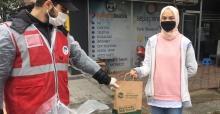 Maske ve dezenfektan dağıtımı devam ediyor