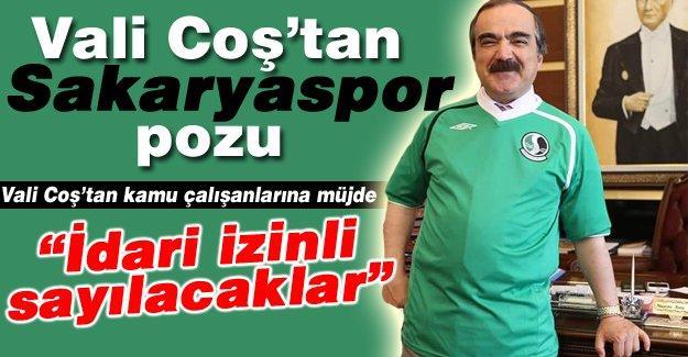 Vali Coş'tan Sakaryaspor pozu