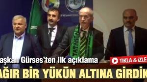 Sakaryaspor Kulüp Başkanı İsmail Gürses'ten ilk açıklama