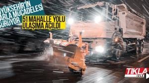 Sakarya Büyükşehir'in karla mücadelesi sürüyor!