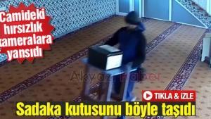Camideki hırsızlık kameralara yansıdı