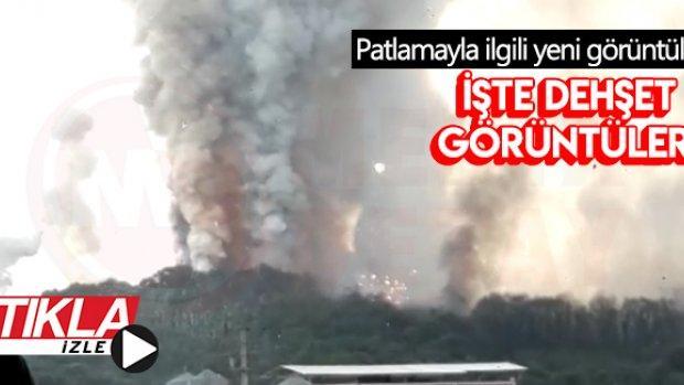 Patlamanın yeni görüntüleri