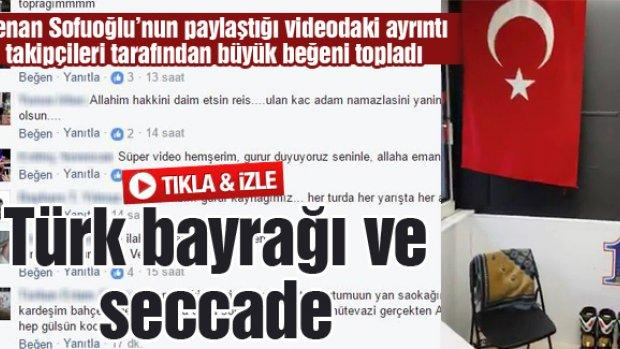 Türk bayrağı ve seccade