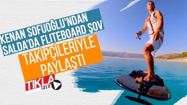 Kenan Sofuoğlu'ndan Salda'da fliteboard şov