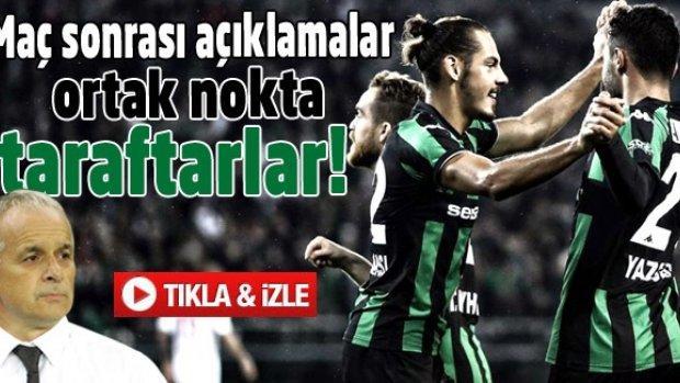 Sakaryaspor yönetim ve futbolcuları maç sonu taraftarı anlattılar