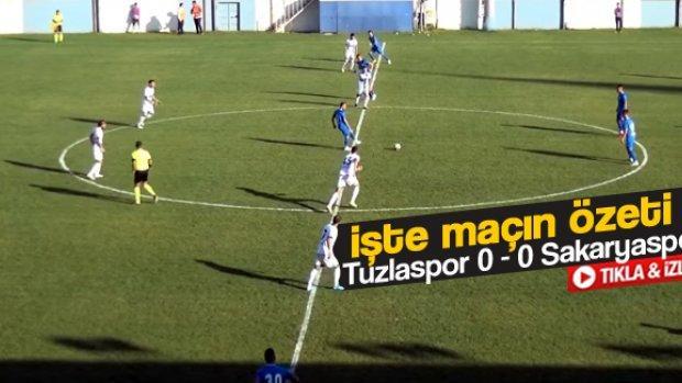 Sakaryaspor'un 0-0 berabere kaldığı maçın özeti