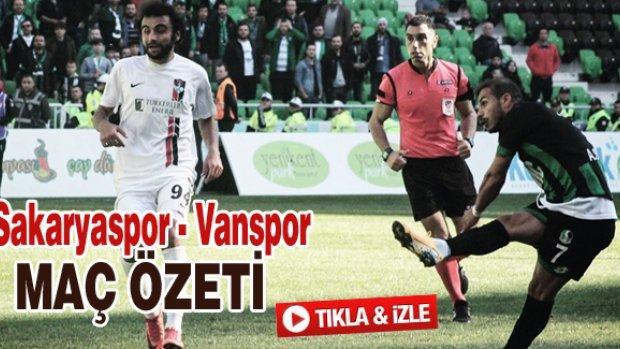 Sakaryaspor - Vanspor maç özeti