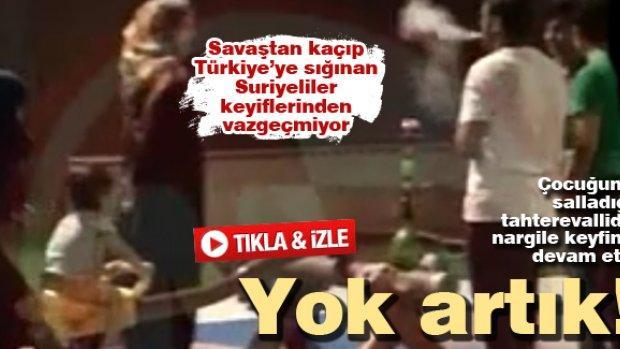 Savaştan kaçıp Türkiye'ye sığınan Suriyeliler keyiflerinden vazgeçmiyor