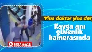 Sakarya'da doktora saldırı anı kamerada