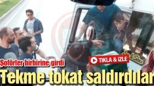 Sakarya'da şoförler birbirine girdi