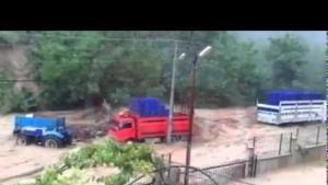 İşte Aşağıdereköy'deki sel görüntüleri