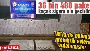 36 bin 480 paket kaçak sigara ele geçirildi