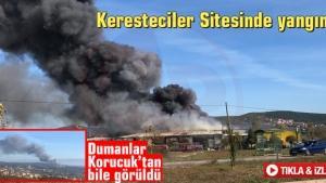 Adapazarı Keresteciler Sitesinde yangın!