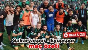 Sakaryaspor - Eyüpspor maç özeti