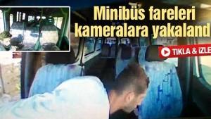 Minibüslerden yapılan hırsızlık araç kamerasına yansıdı
