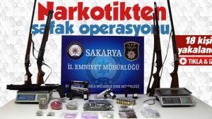 Narkotikten Sakarya'da şafak operasyonu