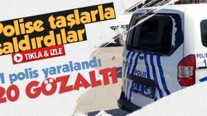 Sakarya'da polise taşlarla saldırdılar