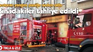Restoran yangını paniğe neden oldu
