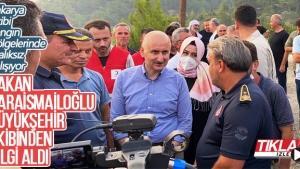 Bakan Karaismailoğlu, Büyükşehir ekibinden bilgi aldı