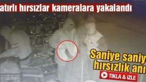 Satırlı hırsızlar kameralara yakalandı