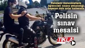 Sınava geç kalanları polis yetiştirdi!