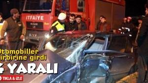 Otomobiller birbirine girdi: 4 yaralı