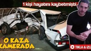 O kaza güvenlik kamerasına yansıdı